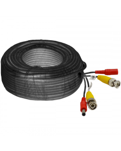 20m CCTV BNC and DC Cable - Black (CAB-CCTV-20M-B)