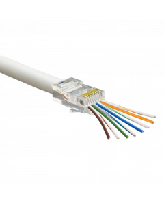 RapidFit RJ45 Crimp Connectors for CAT5E - Pack of 100 (CON-RJ45-RAPID)