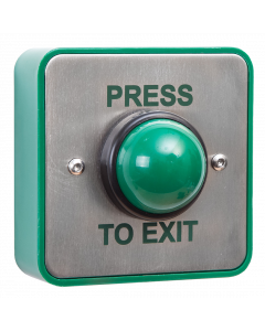 RGL Stainless Steel Green Dome Exit Button (EBGBWC02/PTE)