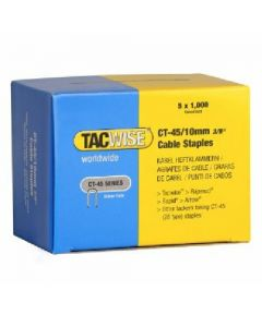 Tacwise CT45 10mm Cable Staples - White (TAC-CT45-W)
