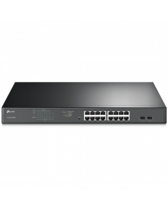 TP-Link JetStream 16-Port Gigabit Easy Smart PoE+ Switch with 2 SFP SLOTS (TL-SG1218MPE)