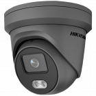 Hikvision IP ColorVu 4MP 30m Turret Dome with Microphone 2.8mm - Grey (DS-2CD2347G1-LU-2.8MM-GR)