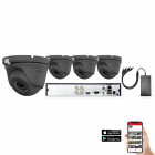 HiLook by Hikvision 4 Camera 4ch 5MP 20M CCTV Kit - Grey (HI-KIT-TVI-5MP-20M-4-GR)