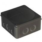 Wiska COMBI 1010 Junction Box - Black (COMBI-1010-B)