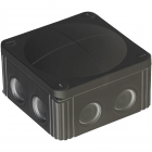 Wiska COMBI 308 Junction Box - Black (COMBI-308-B)